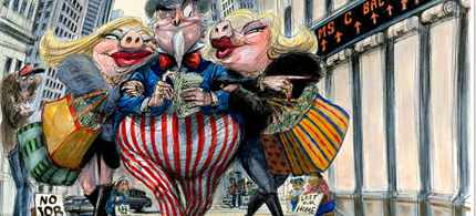 Wall Street wives. (illustration: Victor Juhasz)