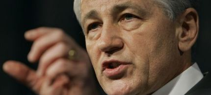 Obama nominated Chuck Hagel as the Secretary of Defense last week. (photo: AP)