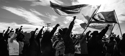 Idle No More protestors gather on the Blood Reserve in Standoff, Alberta. (photo: Blaire Russell)