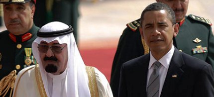 Saudi King Abdullah with US President Barack Obama. (photo: Mido Ahmed/AFP/Getty Images)