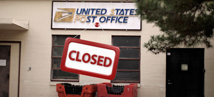 Many rural post offices have been forced to close. (photo: Fiscal Times)