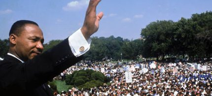 Martin Luther King at Washington DC's Lincoln Memorial in 1968. (photo: Francis Miller/Getty Images)