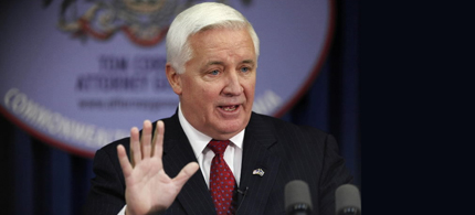 Pennsylvania Gov. Tom Corbett (R), one of the architects of the Republican election-rigging plan. (photo: AP)