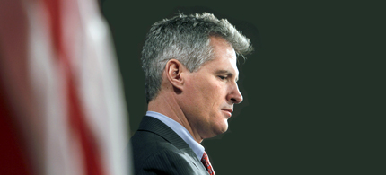Former Massachusetts Senator Scott Brown will not seek John Kerry's old Senate seat. (photo: Boston Globe)