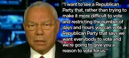 Colin Powell schooled O'Reilly on voting rights. (photo: Media Matters)
