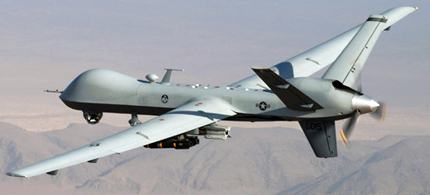 MQ-9 Reaper during a combat mission over southern Afghanistan. (photo: Lt. Col. Leslie Pratt/US Air Force)