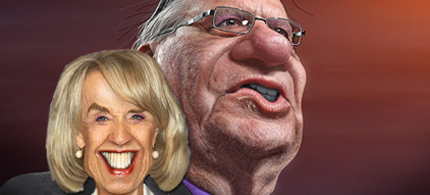 Arizona Governor Jan Brewer and Sheriff Joe Arpaio lead what some believe is the whackiest state in the union. (illustration: DonkeyHotey)