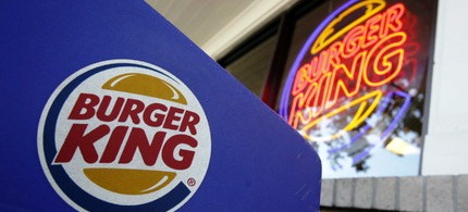 A Burger King sign at a store in Mountain View, Calif. (photo: AP)