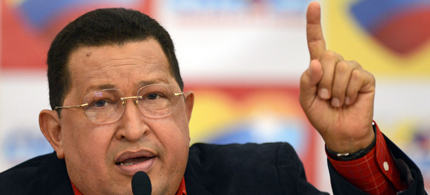 Venezuelan President Hugo Chavez. (photo: Hispantv)