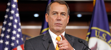 Speaker of the House John Boehner. (photo: AP)