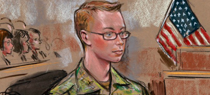 Pfc. Bradley Manning explained how and more importantly, why, he leaked military and government documents. (photo: Reuters)