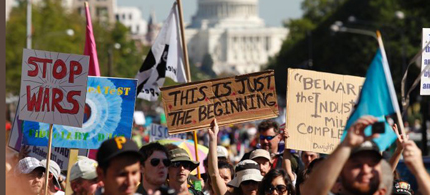 Occupy demonstrators in Washington, DC. (photo: Chip Somodevilla/Getty Images)