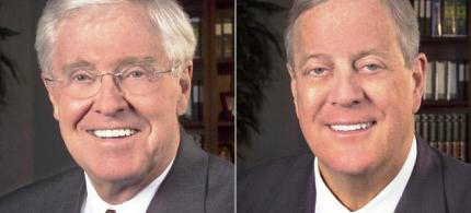 Billionaire industrialists Charles and David Koch. (photo: unknown)