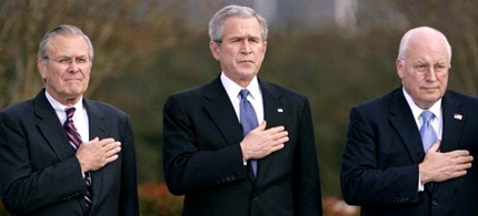 The architects of the Iraq war. (photo: Chip Somodevilla/Getty Images)