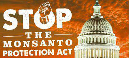 The Monsanto Protection Act is being criticized for its lack of government checks and balances. (illustration: Occupy Monsanto)