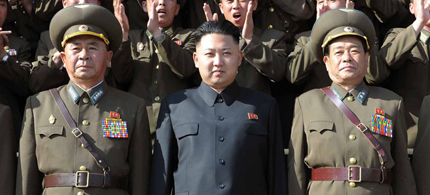 North Korean leader Kim Jong Un (C) inspecting the Air and Anti-air Force Command of the KPA. (photo: AFP)