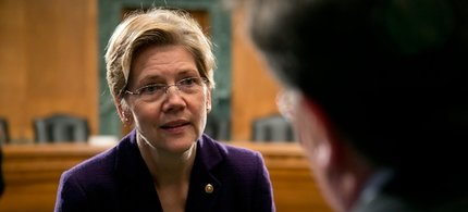 Senator Elizabeth Warren has been fighting to hold Wall Street accountable. (photo: Andrew Harrer/Getty)
