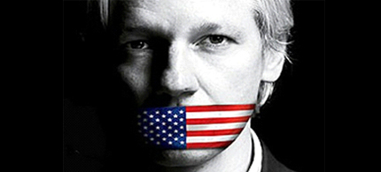 Julian Assange is being silenced for exposing the lie of the corporate state. (photo: TIME)