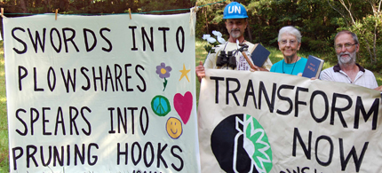 Michael Walli, Sister Megan Rice, and Greg Boerje-Obed, face 20 years in prison for anti-nuclear protest. (photo: Transform Now Plowshares)