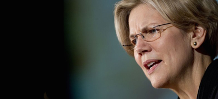 Senator Elizabeth Warren is making noise, but Benghazi is stealing the headlines. (photo: Andrew Harrer/Getty Images)