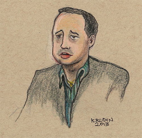 Sketch of Manning Trial (art: Kay Rudin/RSN)