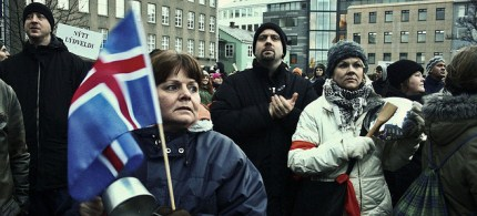 Protests in Reykjavik against the government in 2009. (photo: Daniel Burgui Iguzkiza/Flickr)