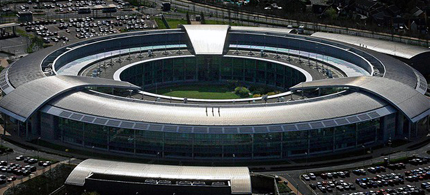 Aerial view of the GCHQ spybase in Cheltenham, Gloucestershire. (photo: BBC)