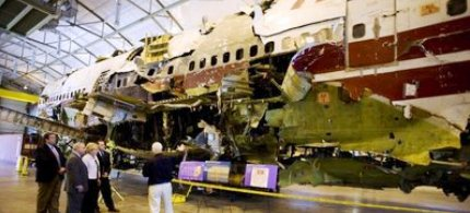 The wreckage of TWA Flight 800. (photo: unknown)