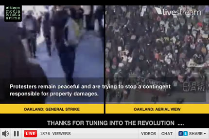 (image: Occupy Wall Street Livestream)