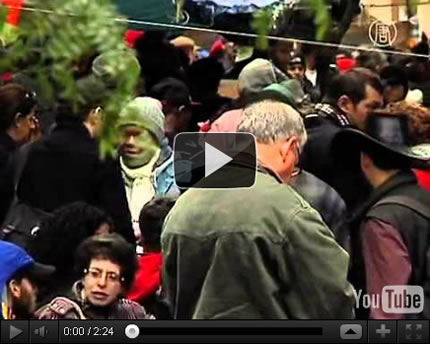 Occupy Wall Street Goes Green (image: NTDTV.com)