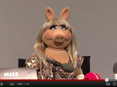 Miss Piggy. (image: Russell Nelson, LeicesterSquareTV)