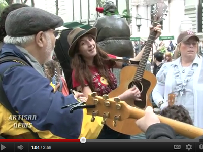 Occupy Wall Street's Guitarmy. (image: Artisan News Service)