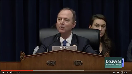 Rep. Schiff: You Might Say That's All OK. But I Don't Think It's OK. (photo: YouTube)